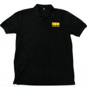 Cheerleader Forever And Ever Black Polo Front